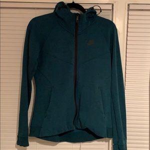 Nike sportswear tech full zip hoody, size medium